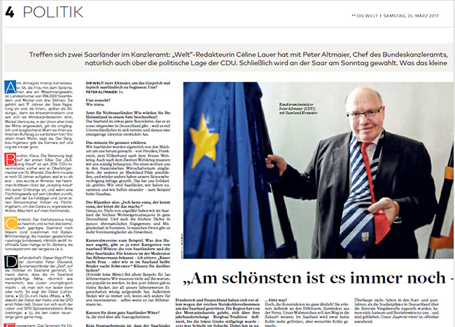 Interview mit Peter Altmaier